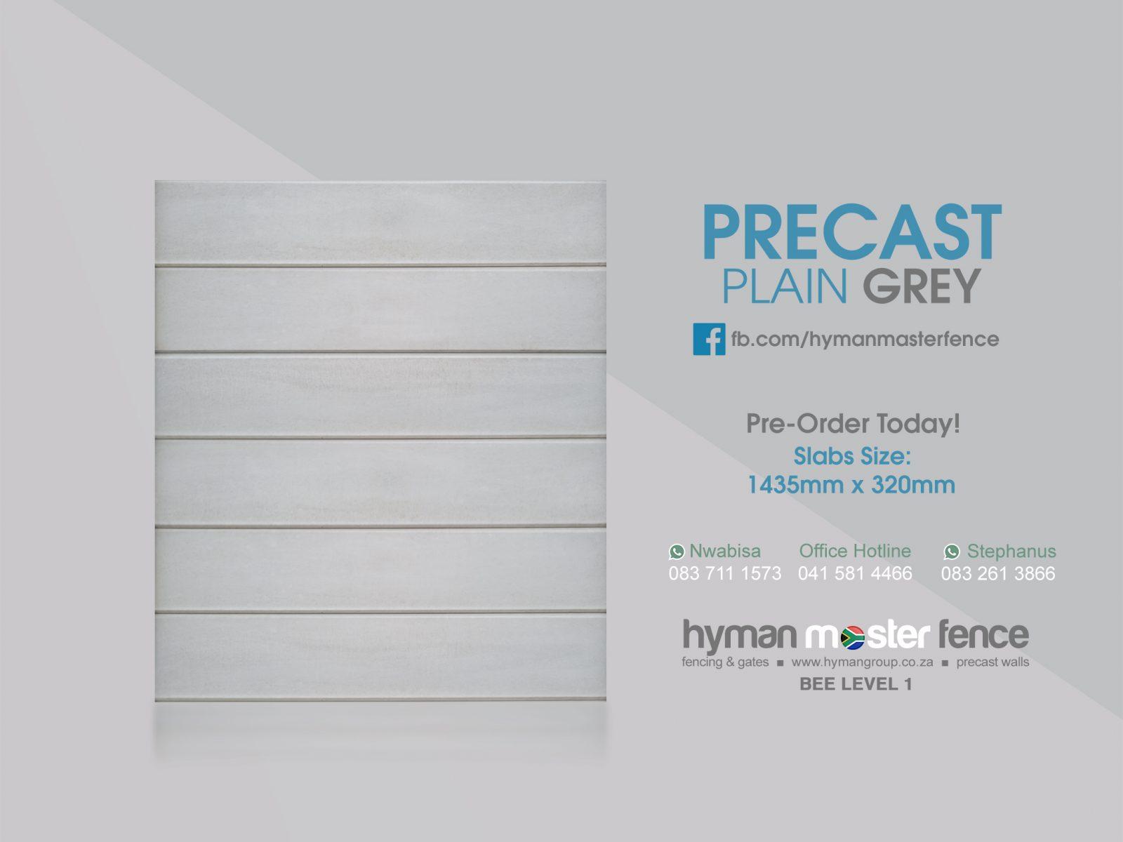 Precast Slabs Plain Grey